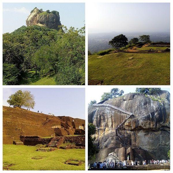 Différents points de vue sur le rocher du lion, ou Sigiriya