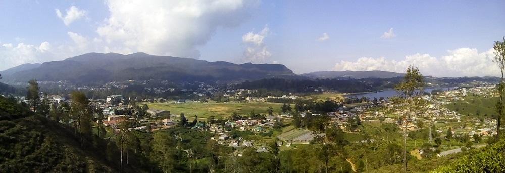 Vue depuis les collines de Nuwara Eliya