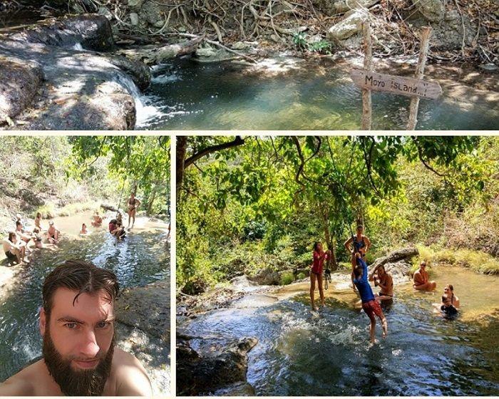 Excursion à la cascade de Moyo Island, Indonésie