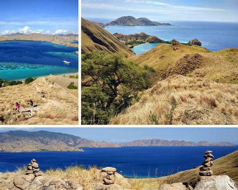 Rando et panorama depuis le sommet de l'île de Lawadarat, Indonésie
