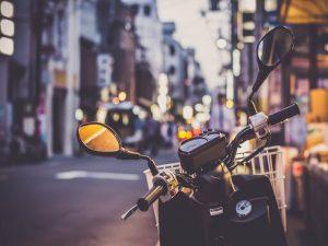 Photo de scooter à l'arrêt