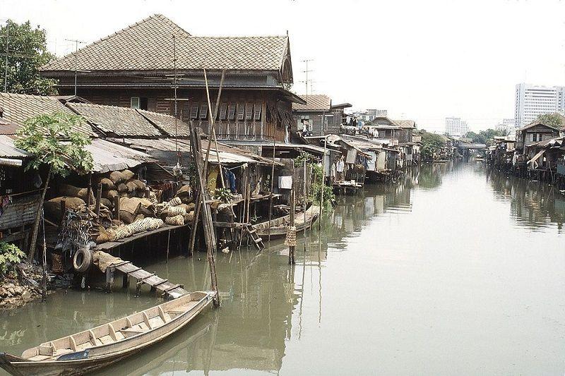 Canaux à Bangkok, Thaïlande