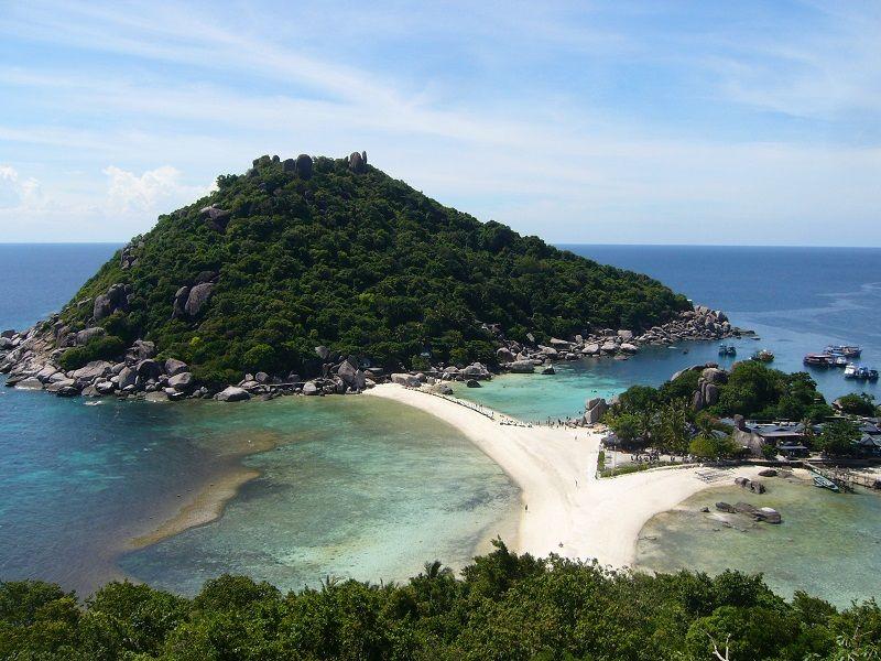 L'île de Nang Yuan, au large de Ko Tao, Thaïlande