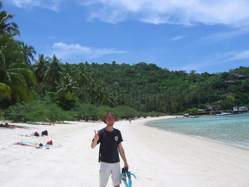 Moi prêt à faire du snorkeling, Ko Tao, Thaïlande