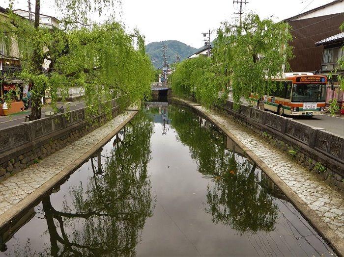Rivière, Kinosaki Onsen, Japon