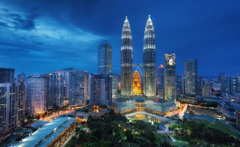 Tours Petronas à Kuala Lumpur, Malaisie