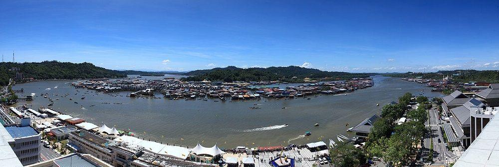 Vue sur le village flottant de Bandar Seri Begawan, capitale de Brunei