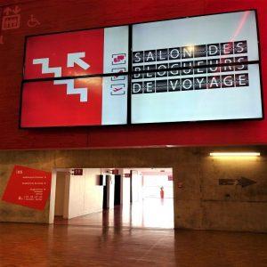 """Panneau """"salon des blogueurs de voyage"""", grand palais de Lille"""
