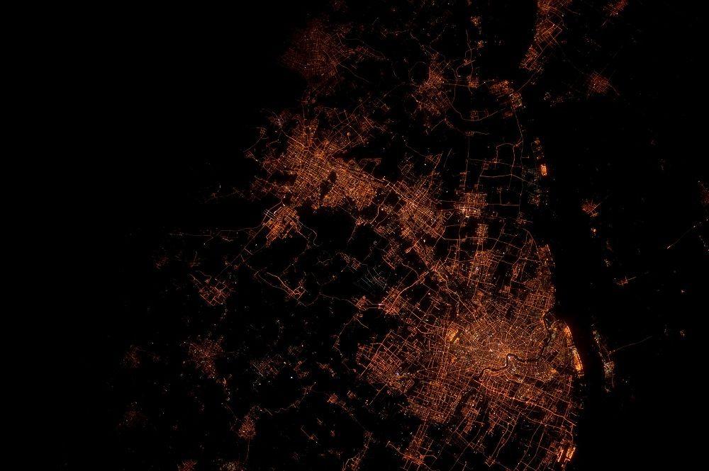 Vue de Shangai depuis l'espace