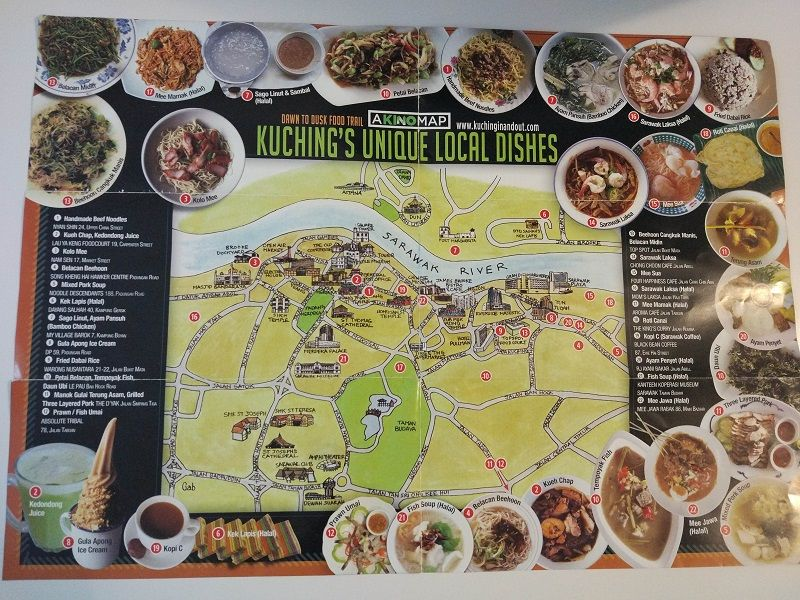 plan de restaurants, Kuching