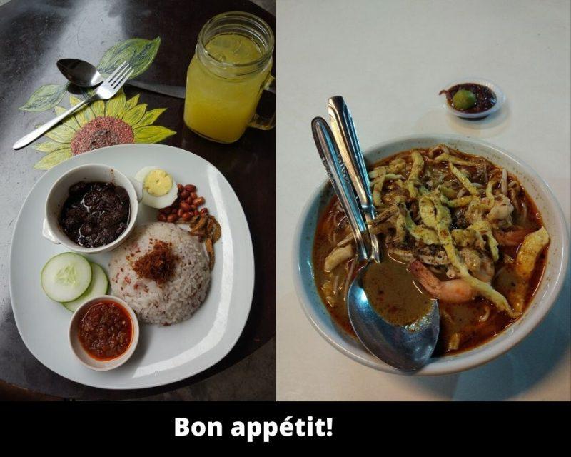 plats typiques de Malaisie