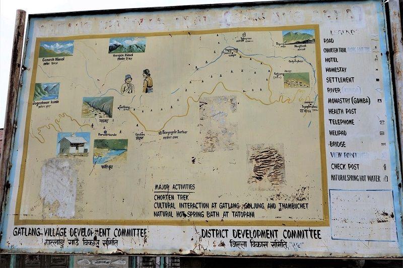 Pancarte trek vallée Gatlang