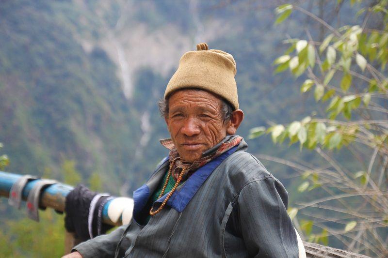 Portrait d'un népalais âgé