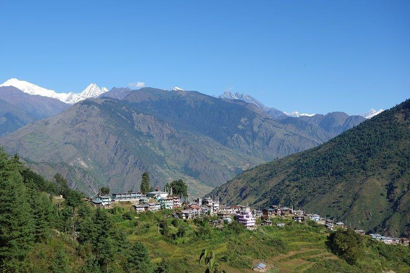 Village de Thulo Syabru au Langtang, Népal